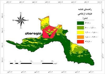 دانلود نقشه طبقات ارتفاعی استان هرمزگان