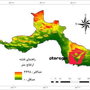 دانلود نقشه ارتفاع استان هرمزگان