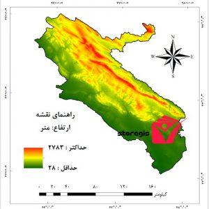 دانلود نقشه ارتفاع استان ایلام