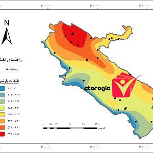دانلود نقشه طبقات بارشی استان ایلام