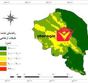 دانلود نقشه طبقات ارتفاعی استان کرمان