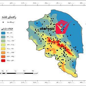 دانلود نقشه طبقات بارشی استان کرمان