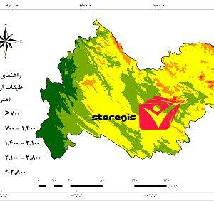 دانلود نقشه طبقات ارتفاعی استان کرمانشاه