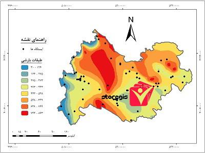 دانلود نقشه طبقات بارشی استان کرمانشاه