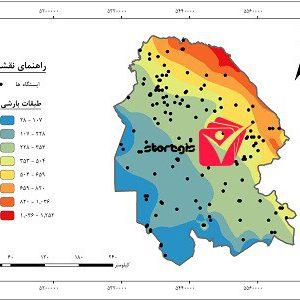 دانلود نقشه طبقات بارشی استان خوزستان