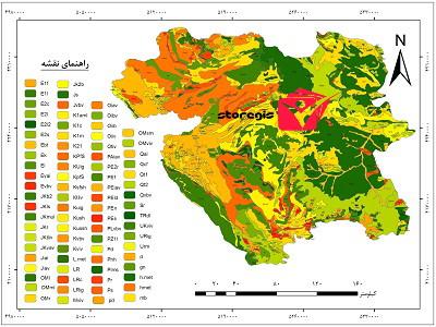 دانلود نقشه زمین شناسی استان کردستان