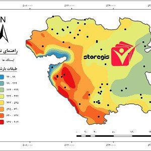 دانلود نقشه طبقات بارشی استان کردستان