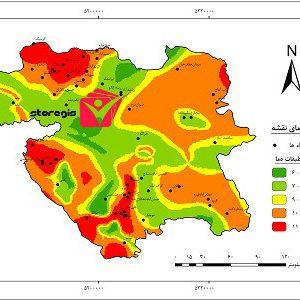 دانلود نقشه طبقات دما استان کردستان