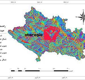 دانلود نقشه جهت شیب استان لرستان