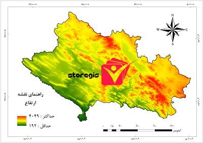 دانلود نقشه خروجی ارتفاع استان لرستان