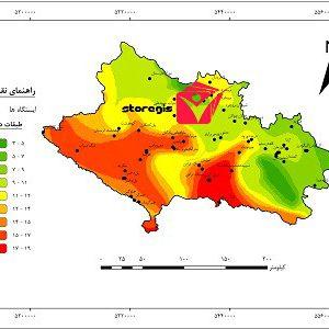 دانلود نقشه طبقات دما استان لرستان
