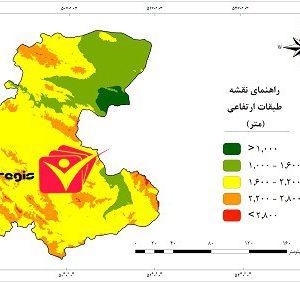 دانلود نقشه طبقات ارتفاعی استان مرکزی