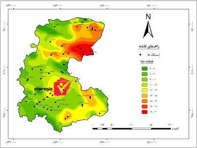 دانلود نقشه طبقات دما استان زنجان