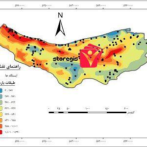 دانلود نقشه طبقات بارشی استان مازندران