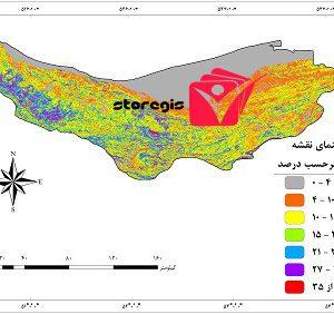 دانلود نقشه درصد شیب استان مازندران