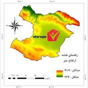 دانلود نقشه ارتفاع استان قزوین