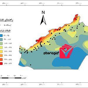 دانلود نقشه طبقات بارشی استان سمنان