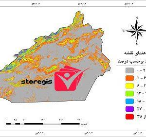 دانلود نقشه درصد شیب استان سمنان
