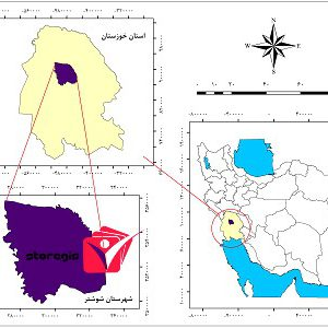 دانلود نقشه موقعیت شهرستان شوشتر