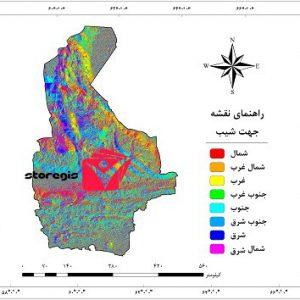 نقشه جهت شیب سیستان و بلوچستان
