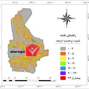 دانلود نقشه درصد شیب استان سیستان و بلوچستان
