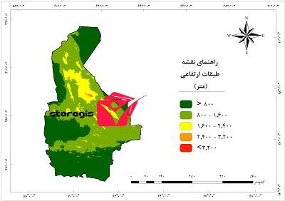 دانلود نقشه طبقات ارتفاعی استان سیستان و بلوچستان