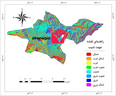 دانلود نقشه جهت شیب استان تهران