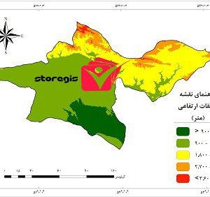 دانلود نقشه طبقات ارتفاعی استان تهران