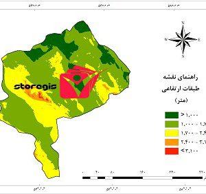 دانلود نقشه طبقات ارتفاعی استان یزد