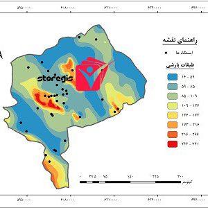 دانلود نقشه طبقات بارشی استان یزد