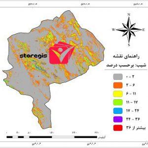 دانلود نقشه درصد شیب استان یزد