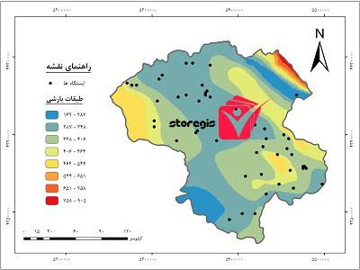 دانلود نقشه طبقات بارشی استان زنجان
