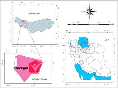 دانلود فایل موقعیت شهرستان عباس آباد