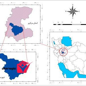 دانلود نقشه موقعیت شهرستان اراک