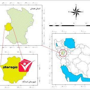 دانلود نقشه موقعیت شهرستان اسدآباد