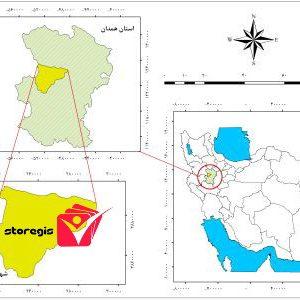 دانلود نقشه موقعیت شهرستان بهار