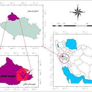 دانلود نقشه موقعیت شهرستان دلفان