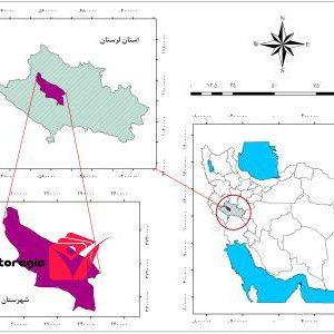 دانلود نقشه موقعیت شهرستان چگنی