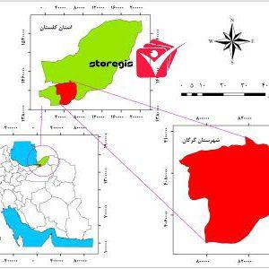 دانلود نقشه موقعیت شهرستان گرگان