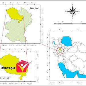 دانلود نقشه موقعیت شهرستان کبودرآهنگ