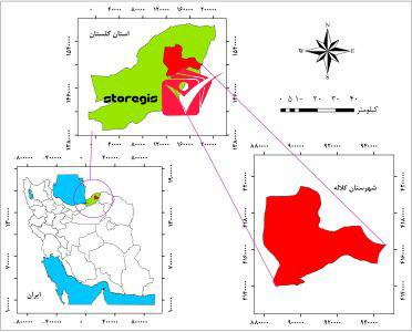 دانلود نقشه موقعیت شهرستان کلاله