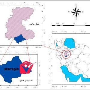 دانلود نقشه موقعیت شهرستان خمین