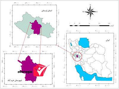 دانلود نقشه موقعیت شهرستان خرم آباد