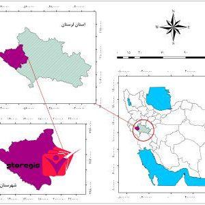 دانلود نقشه موقعیت شهرستان کوهدشت