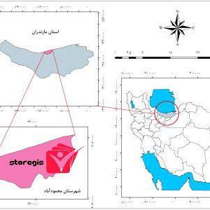 دانلود فایل موقعیت شهرستان محمودآباد