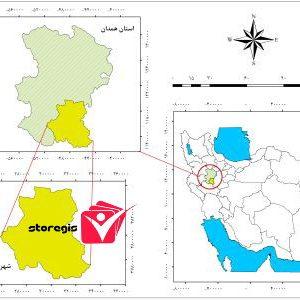دانلود نقشه موقعیت شهرستان ملایر