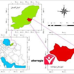دانلود نقشه موقعیت شهرستان مینودشت