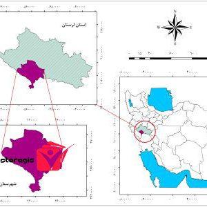 دانلود نقشه موقعیت شهرستان پلدختر