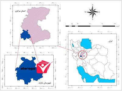 دانلود نقشه موقعیت شهرستان شازند