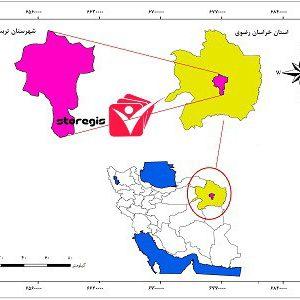 دانلود نقشه موقعیت شهرستان تربت حیدریه